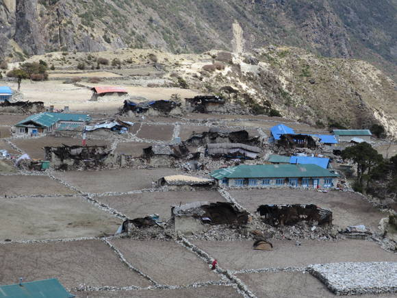 2015 Nepal Earthquake - Village of Thami after Earthquake