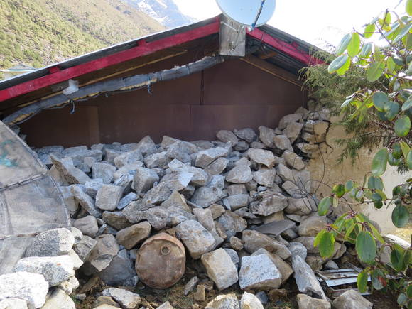 2015 Nepal Earthquake - Kunde Damage - Outside Walls