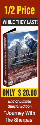 "1/2 Price- ONLY $20! Order a limited special edition of ""Journey With The Sherpas"""